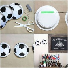Soccer Birthday Parties, Graduation Party Themes, Football Birthday, Sports Birthday, Soccer Party, Birthday Party Themes, Soccer Baby Showers, Soccer Crafts, Craft Party