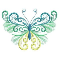 Add this beautiful butterfly design to your spring and summer apparel and decor! Sewing Machine Embroidery, Hand Embroidery Stitches, Hand Embroidery Designs, Embroidery Applique, Butterfly Wallpaper, Butterfly Art, Butterfly Tattoos, Butterflies, Painting Patterns