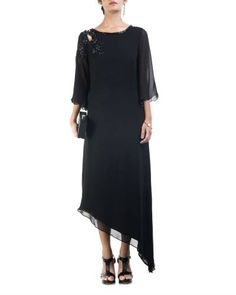 Black Asymmetrical Dress I Shop at :http://www.thesecretlabel.com/designer/anushree-agarwal
