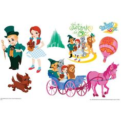 Emerald City Set Wizard Of Oz Kids Art Small Wall Jammer(TM) Wall Decal