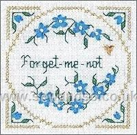 Buy Forget-me-not Cross Stitch Kit Online at www.sewandso.co.uk