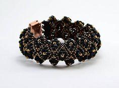 evelyna / Bronzovo-čierny diamantový náramok