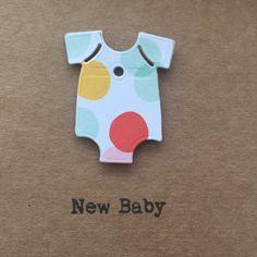 New Baby card.Handmade. Newborn. Personalised. Boy. Girl. by PintsizeDetective on Etsy