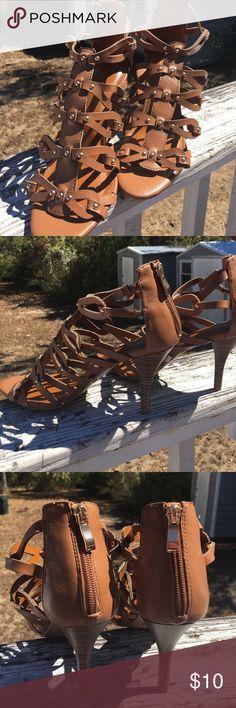🔥Weekend Pick🔥 Brand New Heels Cognac colored heels, never worn. 9m Cato Shoes Heels