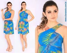 In love por esse vestido <3  Vestido cod: 24.576 Tecido viscose com linho La Estampa.  Curta a nossa fan page https://www.facebook.com/claraassisconfec/ www.claraassis.com.br #claraassis #verão2017