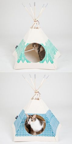 // diy cat teepee