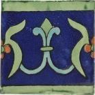 Flor de Liz Azul 6x6