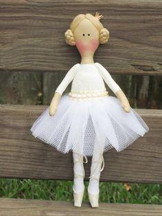 Ballerina doll fabric doll cloth doll stuffed by HappyDollsByLesya