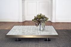 The brand new edition added to the Sofia collection. Elegant and luxury, this coffee table in onyx and burnished steel evokes the eternal beauty of a classical material. The translucent white stone gives to this version of the table a mystical and diaphanous appearance. Discover it in our showroom in Viale Regina 33 in Milan. #Sofia #collection #burnishedsteel #onyx #coffeetable #furniture #living #home #interiordesign #luxury #mg12 #ecofriendly #madeinitaly
