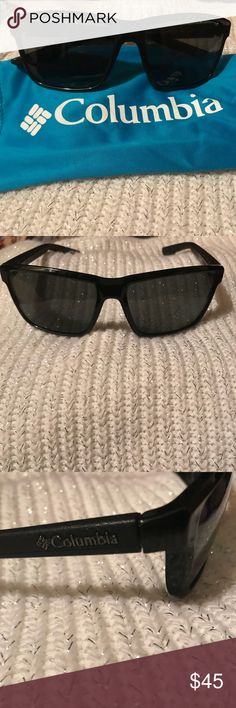 Polarized Columbia Sunglasses with drawstring case Columbia sunglasses these are unisex and a nice dark grey polarized lenses.  Perfect for outdoor activities.  I have worn 1 time lenses and frame in perfect condition. Columbia Accessories Sunglasses
