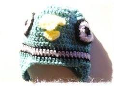 pigeon crocheted hat - turquoise pigeon beanie for babies and children