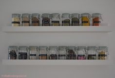 Spice rack, spice shelf, DIY