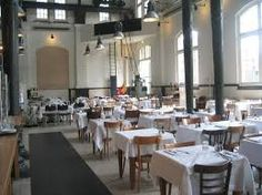 Café Restaurant Amsterdam Based in an old pumping station near Westerpark. From Tom's grub list. Cafe Restaurant, Restaurant Amsterdam, Cafe Bar, Industrial Restaurant, Cob House Plans, Museum Cafe, Cafe House, City Restaurants, Hospitality Design