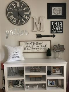 My gorgeous gallery wall! Living Room Decor Cozy, Living Room Grey, Home Living Room, Family Wall Decor, Room Wall Decor, Dining Room Walls, Home Remodeling, Sweet Home, Interior Design