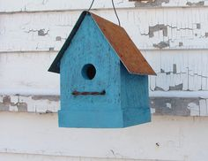 French Country Birdhouse Rustic Simple and by baconsquarefarm