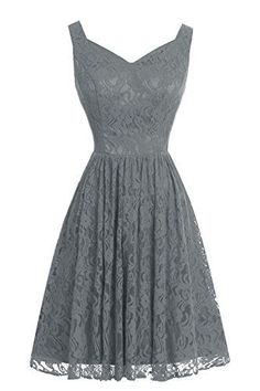 VP Floral V-Neck Short Full Lace Bridesmaid Dress Homecoming Prom Dress Steel Grey VP http://www.amazon.com/dp/B017NJRHR4/ref=cm_sw_r_pi_dp_2OVKwb0CJDW61 Women, Men and Kids Outfit Ideas on our website at 7ootd.com #ootd #7ootd