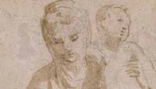 parmigianino study for madonna and child