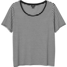 Monki Maja top (1.450 ISK) ❤ liked on Polyvore featuring tops, t-shirts, shirts, t shirts, sleek stripes, black striped t shirt, stripe tee, horizontal stripe t shirt, horizontal striped t shirt and stripe shirt