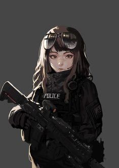 Safebooru is a anime and manga picture search engine, images are being updated hourly. Anime Oc, Female Anime, Anime Kawaii, Anime Girl Brown Hair, Girl With Brown Hair, Anime Military, Military Girl, Cool Anime Girl, Anime Art Girl