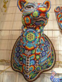 Extra Large Huichol Jaguar Mask