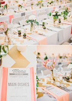 peach and gold wedding ideas http://www.weddingchicks.com/2013/10/07/alternative-wedding/