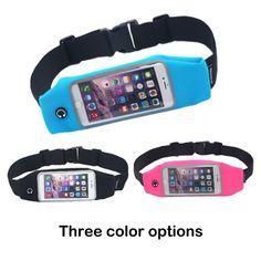 Hot Sale Outdoor Runnning Jogging Waist Bag Gym Fitness Running Belt Bag For Mobile Phone 5 Colors Men Womens Sport Waist Pack