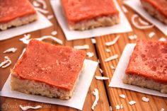Guava Bars with Coconut Flour Crust (vegan, gluten-free, grain-free)