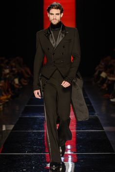 Jean Paul Gaultier Couture - 36. A male tailcoat with a wasp waist? Who but Jean Paul Gaultier could make that work?
