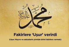 """Fakirlere """"uşur"""" verirdi.  #islam #peygamberimiz #HzMuhammed"""