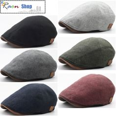 New Hazy Colored Ivy Cap Crack Faux Leather Brim Design Flat Newsboy Driver Hat | eBay