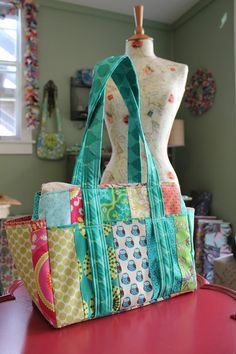Unisex Patchwork Diaper Bag Nappy Tote: Custom made to order on Etsy, $181.25