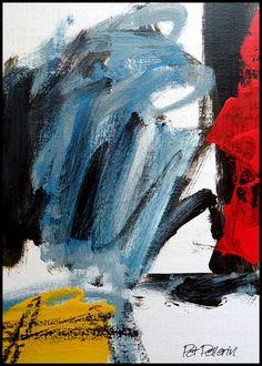N°868 Pat Pellerin. Acrylique et crayon gras sur carton toilé 30x40 cm.