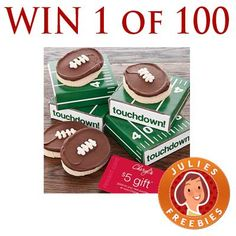 Win 1 of 100 Cheryl's Football Cookie Cards