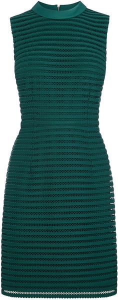 Womens bottle green stripe mesh high neck dress from Oasis - £65 at ClothingByColour.com Swag Style, Green Fashion, Green Stripes, Oasis, Summer Wedding, Mesh, High Neck Dress, Bottle, Clothes