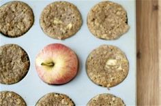 moist and healthy apple cinnamon muffins