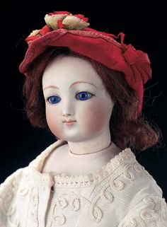 "Theriault's Antique Doll Auctions - French Bisque Poupee with Rare Dehors Signature and Deposed 14"" - circa 1866"