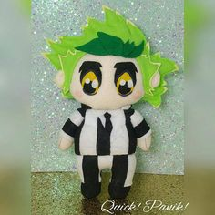 9e8a58bd0b3 Kawaii Chibi Beetlejuice handmade felt plush by Quick! Panik! Instagram     quickpanik depop