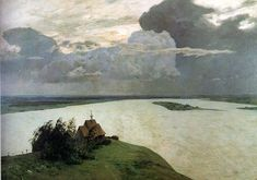 Isaac Levitan - Above the eternal tranquility, 1894