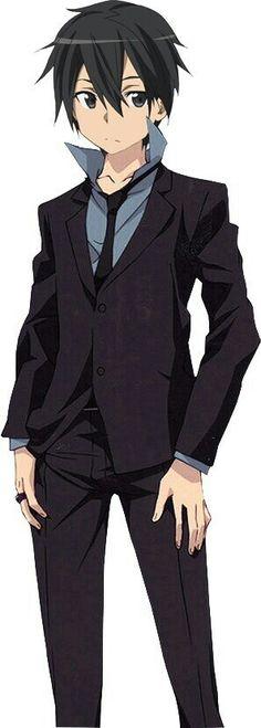 Kirito, suit; Sword Art Online