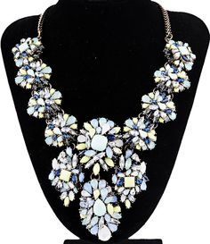 WHOLESALE FASHION JEWELRY ACCESSORIES 2014 NEW DESIGN WOMEN GORGEOUS CRYSTAL BLING BIB STATEMENT NECKLACE COLLAR HOT