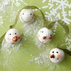 Snowman-Face Ornaments