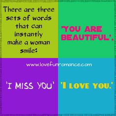Words that can instantly make a woman smile - Love, Fun and Romance