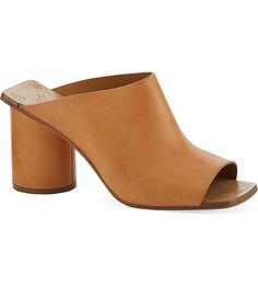 MARTIN MARGIELA - Square toe heeled mule sandals | Selfridges.com