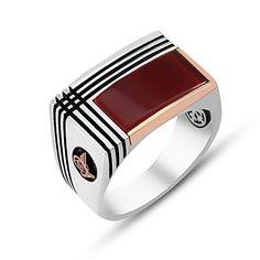 ОСМАНСКИЙ Агат КАМЕНЬ 925 Серебряный мужской перстень | Украшения и часы, Украшения для мужчин, Кольца | eBay!