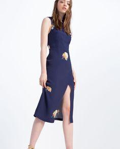 DRESS WITH SLITS-Midi-DRESSES-WOMAN | ZARA United States