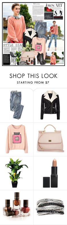 """""""Untitled #297"""" by la-vie-en-rose ❤ liked on Polyvore featuring Therapy, Dolce&Gabbana, Alaïa, Better Homes and Gardens, Barry M, Le Métier de Beauté and Effy Jewelry"""