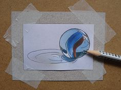 How to draw a marble Drawing Lessons, Art Lessons, Drawing Classes, Drawing Tips, Drawing Ideas, Drawing Sketches, Art Drawings, Drawing Art, Ms Project
