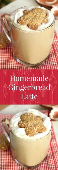 Homemade Gingerbread Latte - skip the long lines and save your money! Make your own Gingerbread Latte right at home! Coffee Drink Recipes, Tea Recipes, Holiday Recipes, Dessert Recipes, Coffee Drinks, Christmas Recipes, Healthy Recipes, Latte Macchiato, Recipes