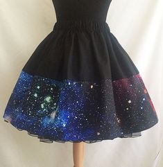 Galaxy Skirt Galaxy Print Skirt Space Skirt By Rooby by RoobyLane