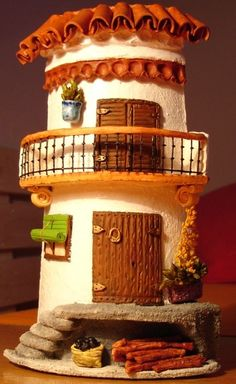 Tutorial de Artesanías: Curved roofing tiles tutorial these are fantastic Clay Houses, Ceramic Houses, Miniature Houses, Tile Crafts, Clay Crafts, Diy And Crafts, Clay Fairy House, Fairy Houses, Clay Jar